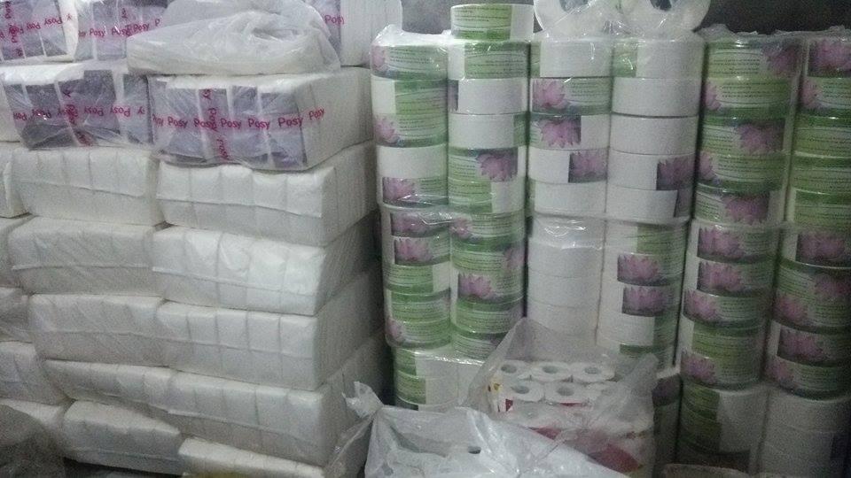Giấy vệ sinh cuộn lớn Hoa Sen