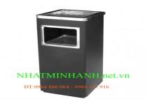 Thùng rác inox A34-B (có gạt tàn thuốc lá)