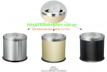 Thùng rác inox A36-H (nắp lật)