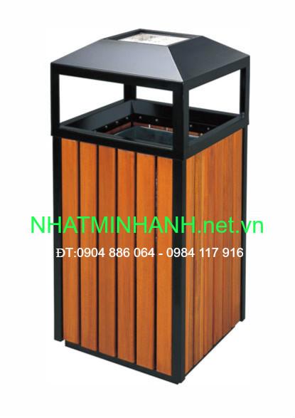 Thùng rác ngoài trời A78-A (thùng rác gỗ)