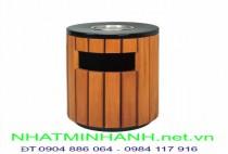 Thùng rác ngoài trời A78-C (thùng rác gỗ)