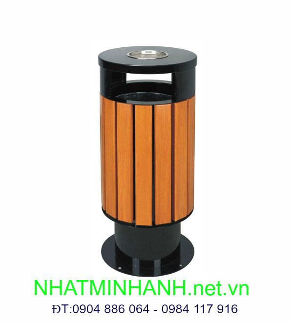 Thùng rác ngoài trời A78-F (thùng rác bằng gỗ)