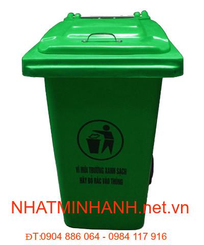 Thùng rác nhựa composite 120 lít