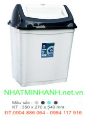 Thùng rác nhựa nắp lật 28L