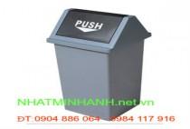 Thùng rác nhựa PUSH 25L, 40L, 60L, 100L nắp lật