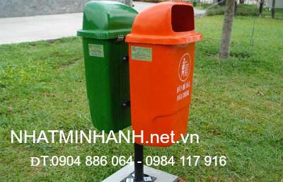 Thùng rác nhựa treo đôi 50L