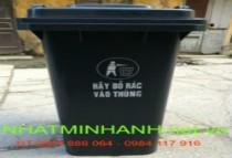 Thùng rác nhựa 120l màu xám