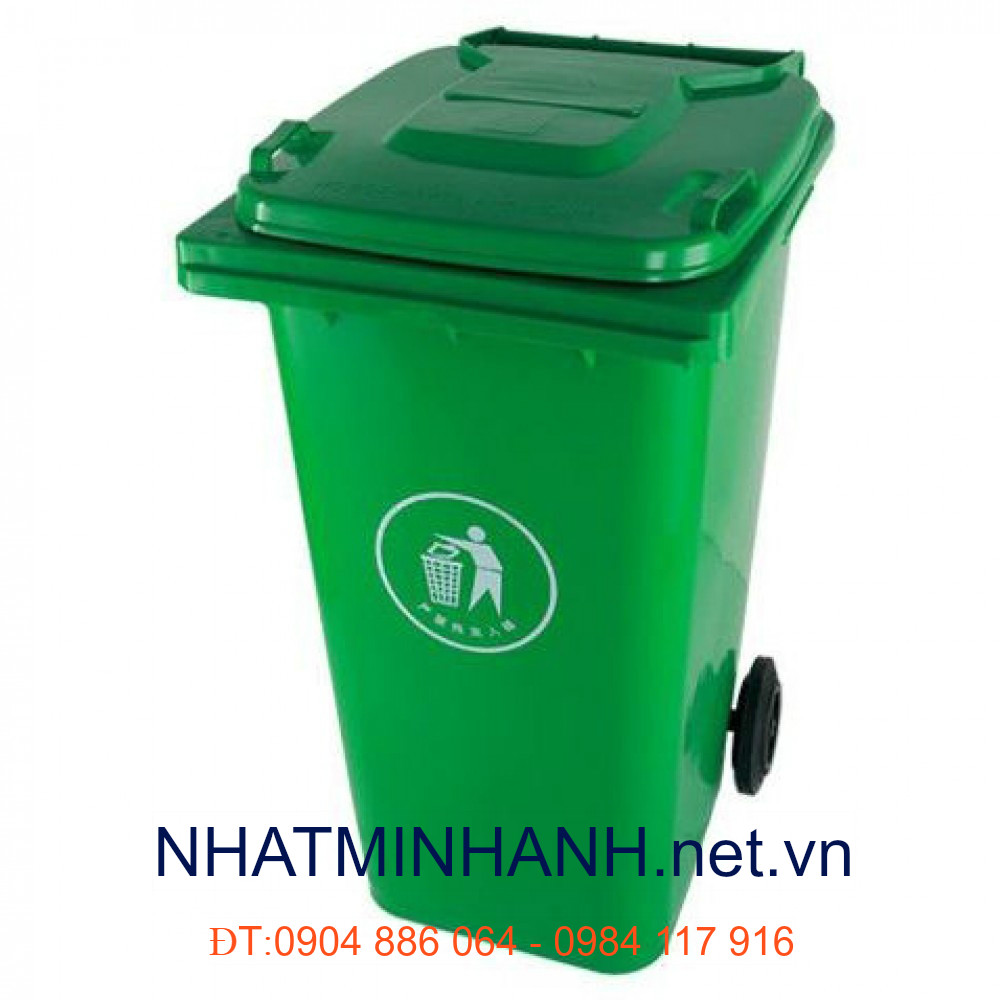 Thùng rác nhựa 70L-màu Xanh
