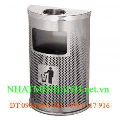 Thùng rác inox A55 (hình bán nguyệt)
