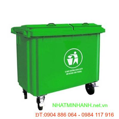 Thùng rác nhựa composite 660L
