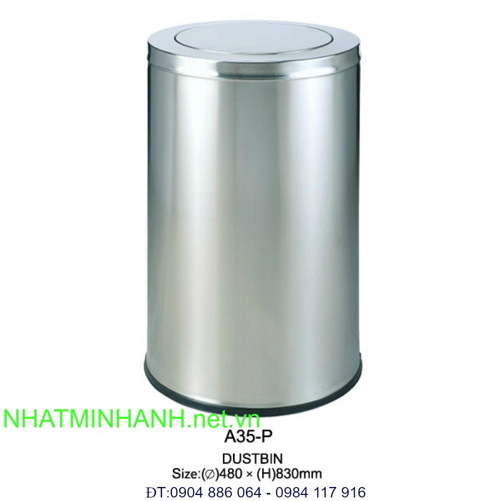 Thùng rác inox A35 - P