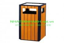 Thùng rác ngoài trời A78-N (thùng rác gỗ)