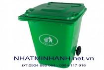 Thùng rác nhựa 120L- màu Xanh