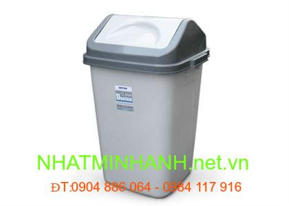 Thùng rác nhựa 60L nắp lật