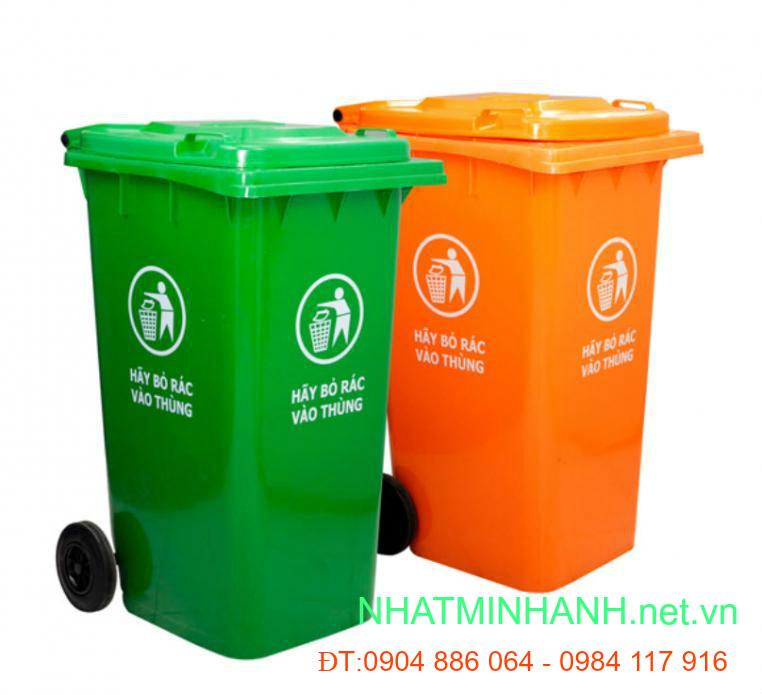 Thùng rác nhựa HDPE 240L