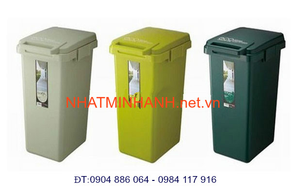 Thùng rác nhựa ngang bàn đạp chân 33L