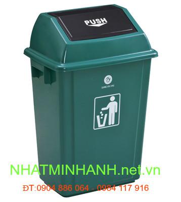 Thùng rác nhựa PUSH 35L và 55L nắp lật